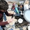 Részleges napfogyatkozás - érdeklődők sokasága a csillagvizsgálóban